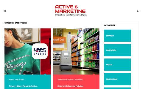 Screenshot of Case Studies Page zoharurian.com - Case studies | Active & Marketing - captured Sept. 21, 2018