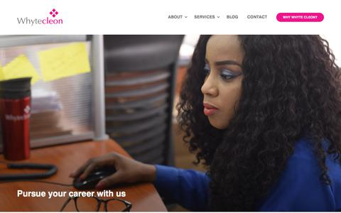 Screenshot of Jobs Page whytecleon.com - Whyte Cleon Limited | Human Resource Outsourcing & Management Solutions - captured Sept. 23, 2018