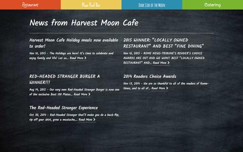 Screenshot of Press Page myharvestmooncafe.com - Harvest Moon Cafe News from Harvest Moon Cafe • Rome, GA restaurant - captured Oct. 29, 2016