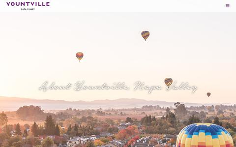 Screenshot of About Page yountville.com - About - Yountville - captured Oct. 19, 2017