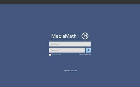 MediaMath | TerminalOne