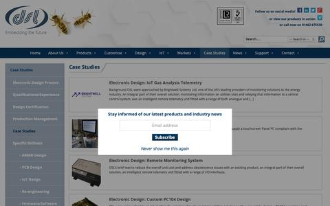 Screenshot of Case Studies Page dsl-ltd.co.uk - IoT Electronic Design Case Studies - Our Successes DSL Ltd - captured Oct. 7, 2018