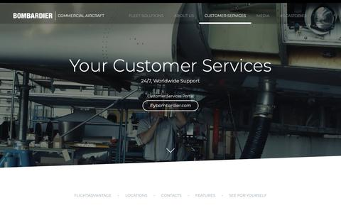 Screenshot of Locations Page bombardier.com - Customer Services | Bombardier Commercial Aircraft - captured Oct. 21, 2018