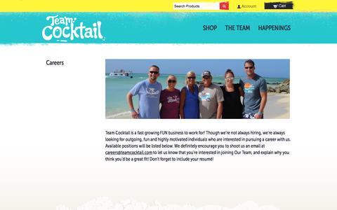 Screenshot of Jobs Page teamcocktail.com - Careers – Team Cocktail - captured Oct. 7, 2014