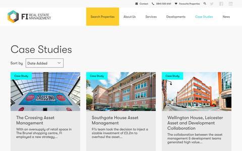 Screenshot of Case Studies Page fi-rem.com - Case Studies | FI Real Estate Management Ltd - captured Oct. 10, 2018