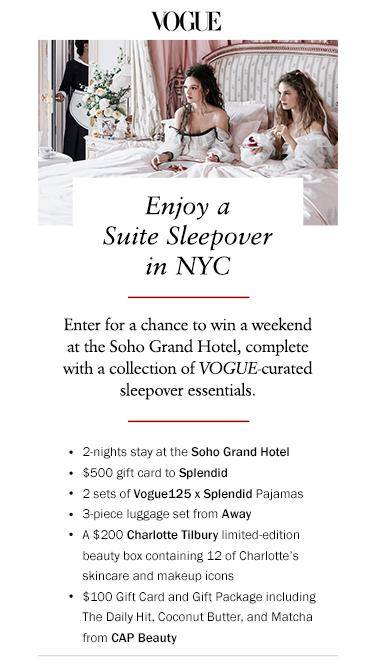 Vogue Splendid x Away Sweepstakes