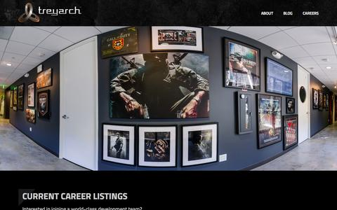 Screenshot of Jobs Page treyarch.com - Treyarch > Jobs - captured Aug. 15, 2015