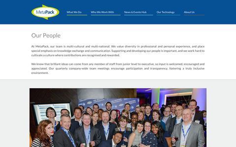 Screenshot of Team Page metapack.com - MetaPack | Our People - captured Oct. 28, 2014