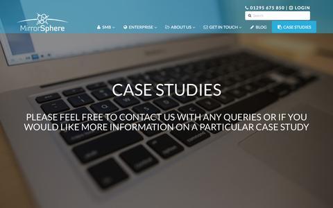 Screenshot of Case Studies Page mirrorsphere.com - MirrorSphere Case Studies - Trusted Worldwide - captured Dec. 20, 2016