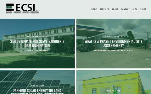 Screenshot of Blog engrservices.com - Blog — ECSI LLC - captured Sept. 25, 2018