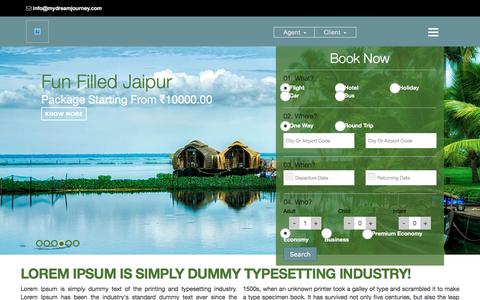 Screenshot of Home Page mydreamjourney.com - Travel Portal Development,White Label Travel Solution India,Travel Technology Provider - captured Dec. 6, 2016