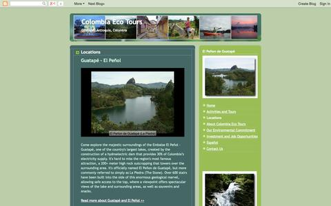 Screenshot of Locations Page colombiaecotours.com - Colombia Eco Tours: Locations - captured Sept. 30, 2014