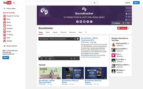 Screenshot of YouTube Page youtube.com - Soundtracker  - YouTube - captured Oct. 22, 2014