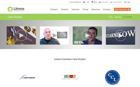 Screenshot of Case Studies Page litmos.com - Case Studies   Litmos Customer Stories   Learning Management Systems - captured June 9, 2017