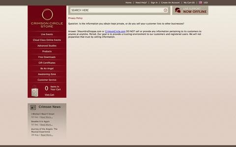 Screenshot of Privacy Page crimsoncircle.com - Privacy Policy - captured Sept. 23, 2014