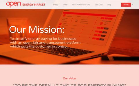 Screenshot of About Page openenergymarket.com - About Open Energy Market - Open Energy Market - captured Oct. 19, 2018