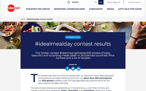 Screenshot of Press Page edenred.com - #idealmealday contest results - captured July 8, 2019
