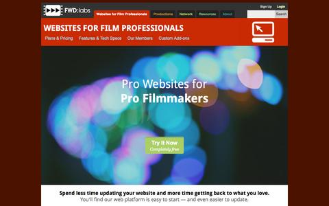 Screenshot of Testimonials Page fwdlabs.com - Websites for Film Professionals - FWD:labs - captured Aug. 3, 2015