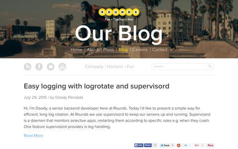 Screenshot of Blog rounds.com - Blog | Rounds - captured Nov. 11, 2015
