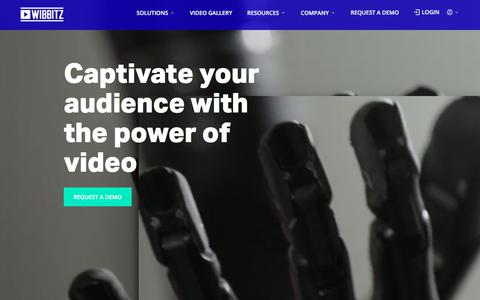 Screenshot of Home Page wibbitz.com - Wibbitz - Video Creation platform for professional storytellers - captured May 18, 2018