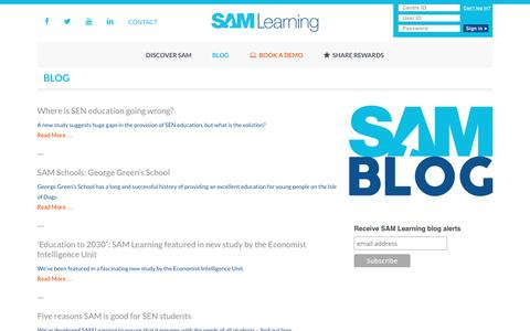 Blog | SAM Learning