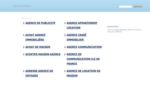 Screenshot of Home Page agence-kariboo.fr - agence-kariboo.fr-This website is for sale!-agence-kariboo Resources and Information. - captured July 29, 2018
