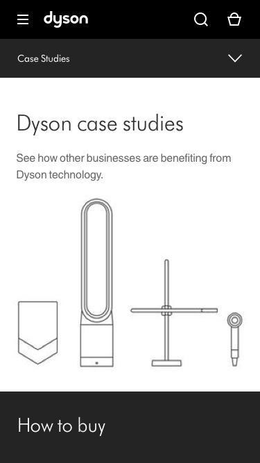 Screenshot of Case Studies Page  dyson.com - Dyson | Dyson For Business | Case Studies Overview | Dyson