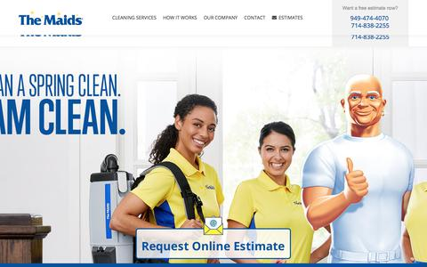 Screenshot of Home Page themaidsoc.com - The Maids Orange County House Home Cleaning Services - captured July 5, 2019