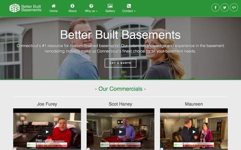 Screenshot of About Page betterbuiltbasements.com - Better Built Basements - About - captured Feb. 7, 2016