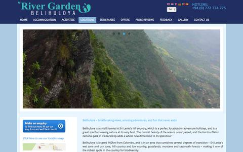 Screenshot of Locations Page rivergardenresort.com - River Garden Resort- Best Historical and Archaeological locations in hill country sri lanka - captured Oct. 26, 2014