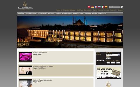 Screenshot of Team Page kalyon.com - People | Kalyon Hotel - Luxury Hotel Sultanahmet Istanbul - captured Oct. 6, 2014