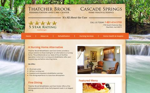 Screenshot of About Page thatcherbrookrehab.com - About Us - Thatcher Brook Rehabilitation and Care Center - captured Feb. 17, 2016