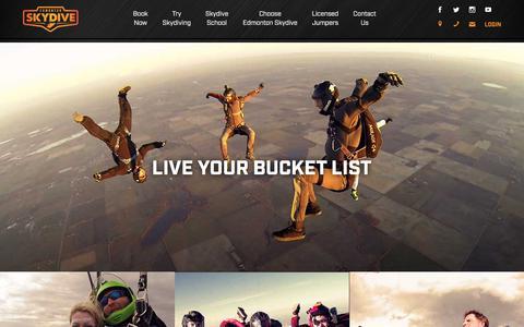 Screenshot of Home Page edmontonskydive.com - Edmonton Skydive| Canada's Highest Skydives - captured July 16, 2018