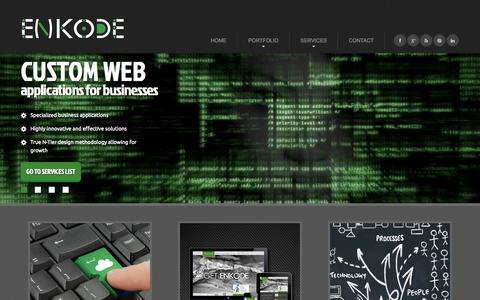Screenshot of Home Page keithfimreite.com - Enkode - Custom Web Application Development - captured Oct. 3, 2014