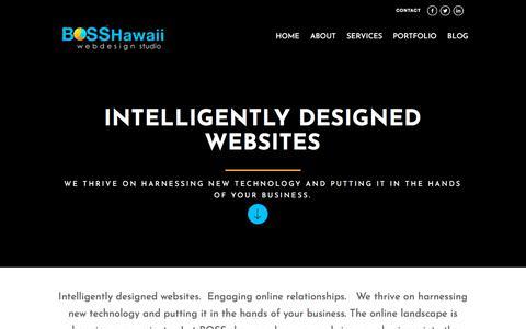 Screenshot of Home Page bosshi.com - BOSS Hawaii Web Design | Social Media | Digital Marketing - captured Oct. 9, 2017