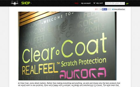 Screenshot of About Page clear-coat.com - About Clear-Coat Scratch Protection - captured Sept. 23, 2014