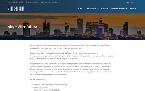 Screenshot of About Page miller-fukuda.com - About us - Miller-Fukuda - Real Estate Agency - Warsaw, Poland - captured Nov. 14, 2017