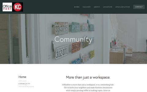 Screenshot of About Page officeportkc.com - Community — OfficePort KC - captured Jan. 18, 2018