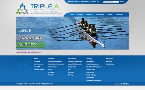 Screenshot of Case Studies Page triple-aconsult.com - Triple A Consultancy - Case Studies - captured Oct. 8, 2014