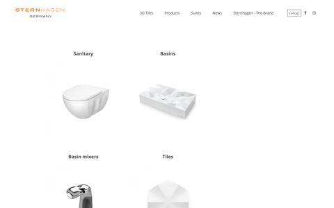 Screenshot of Products Page sternhagen.com - Ceramic, Floor,  Wall, Vitrified Tiles in Ahemedabad, Delhi, Mumbai - Sternhagen - captured Nov. 5, 2018