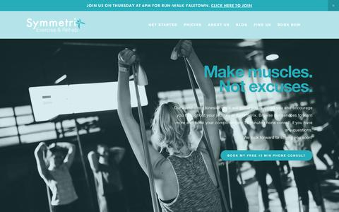 Screenshot of Services Page symmetrix.ca - Services — Symmetrix - captured Oct. 19, 2018