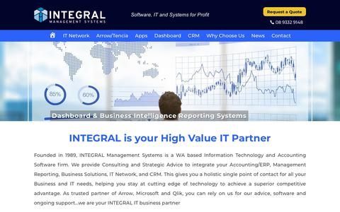 Screenshot of Home Page integral-mgt.com.au - Integral Management Systems - IT & Accounting Software firm - captured Oct. 4, 2018