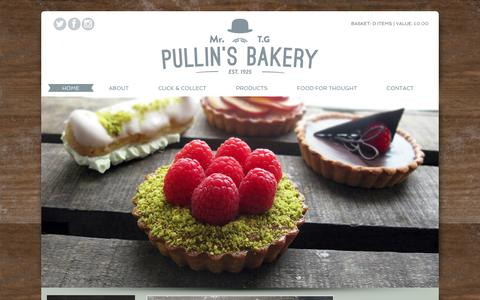 Screenshot of Home Page pullinsbakers.co.uk - Mr T.G Pullin's Bakery - award winning bread from Somerset. - captured Feb. 2, 2016