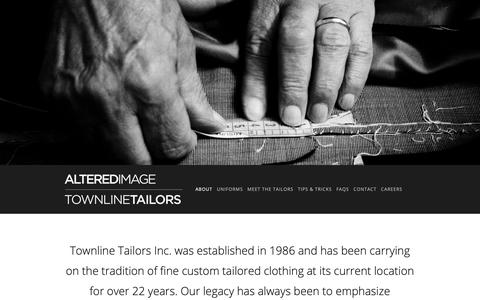 Screenshot of About Page townlinetailors.com - Townline Tailors — Altered Image | Townline Tailors - captured Oct. 3, 2018