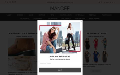 Screenshot of Press Page mandee.com - Mandee Blog – Mandee Online - captured Nov. 16, 2016