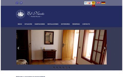 Screenshot of Home Page elnavio.es - Hotel Rural El Navío - captured Feb. 1, 2016