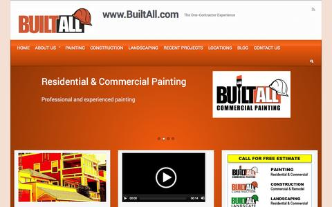 Screenshot of Home Page builtall.com - BuiltAll Construction, Painting and Landscaping - captured Oct. 5, 2014