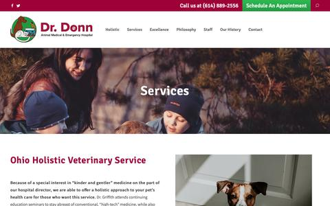 Screenshot of Services Page drdonn.com - Services - Dr. Donn - captured Oct. 3, 2018