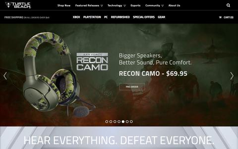 Screenshot of Menu Page turtlebeach.com - #1 Gaming Headsets - Headphones for Xbox, PS4, PS3 - Turtle Beach US - captured Oct. 10, 2017