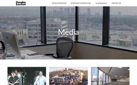 Screenshot of Press Page douglasemmett.com - Media: Real Estate Photos, Videos, & More  Douglas Emmett   Douglas Emmett - captured June 5, 2017